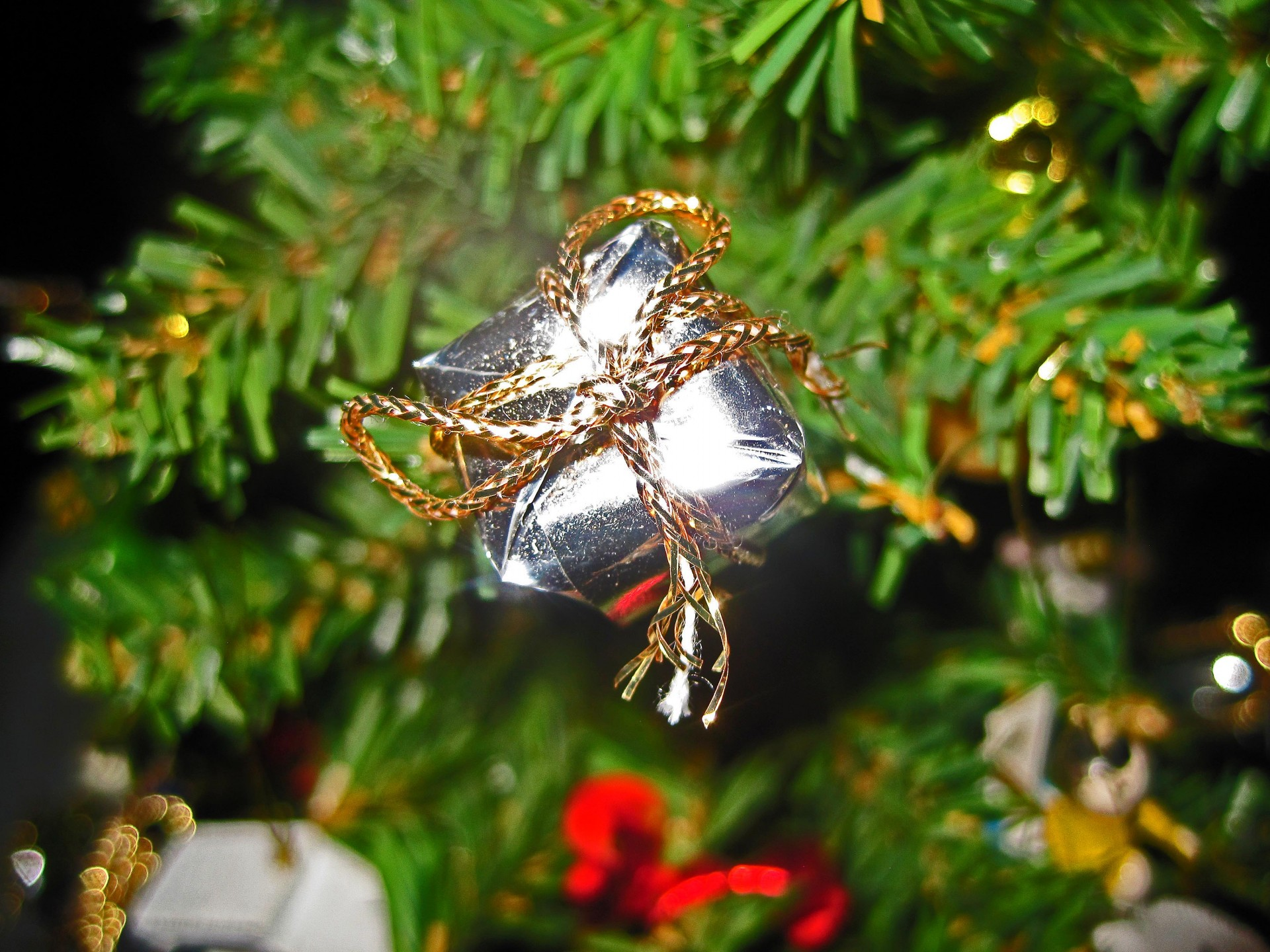 small-gift-on-christmas-tree