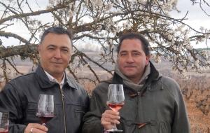 Desiderio Sastre y José Carlos Álvarez, dtor. gral y enólogo de Viña Vilano.