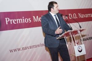 David Palacios durante la entrega de premios.