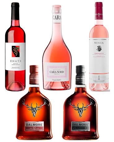 probando-rosado-y-whisky
