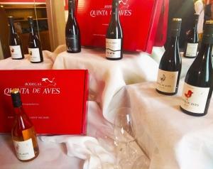 Gama de vinos de la firma.
